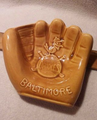 Vintage 1950s 60s Baltimore Orioles Bird Mascot/logo Ceramic Glove Change Holder