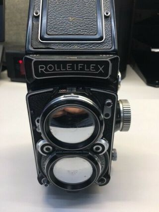Vintage Rolleiflex 3.  5 Camera Zeiss W/ Tripod And Light Meter