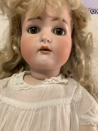 Simon Halbig Antique German Bisque Doll K And R Number 76 Very Pretty