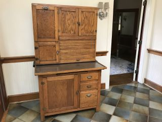 "Antique Oak "" Hoosier "" Cabinet"