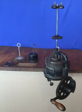 Antique Auto Knitting Circular Sock Machine Csm Knitter 60 Cyl 30 Rib Great