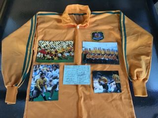 1984 Wallabies Grand Slam Adidas Jersey - Team Signatures Rare