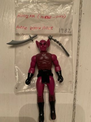 Dragonriders Of The Styx Roozan Purple Demon Rider Rare Vintage Figure Complete