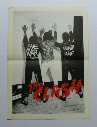 The Clash 1977 Cbs Uk Press Kit Rare Punk Watch Out Pistols