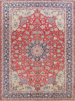 Traditional Floral Area Rugs Hand - Knotted Oriental Dinning Room Carpet 10x14 Red