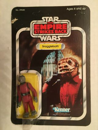 Vintage Star Wars Empire Strikes Back Snaggletooth Back 41 Kenner 1980 Unpunched