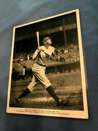 Vintage Babe Ruth 1934 Quaker Oats Cereal Premium Photo