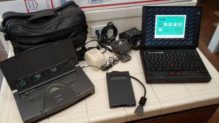 Vintage Ibm Thinkpad 760xd W/ Cd & Charger/adapter Win95 Floppy Bj - 30 Leather
