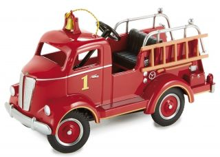 Pedal Car 1940 Ford Fire Engine Red Truck Vintage Metal