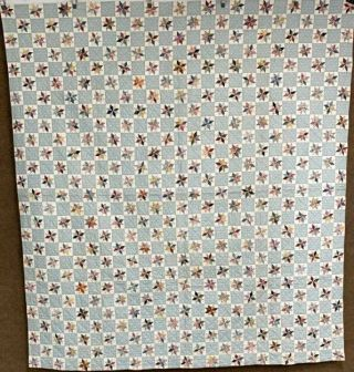 Small Scale Vintage Tiny Stars Quilt 675 Squares 90 X 82