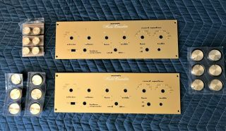 Vintage Pair Marantz Model One Consolette Faceplate And Knobs Set