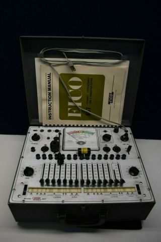 Vintage Eico 667 Dynamic Conductance Tube & Transistor Tester With Manuals