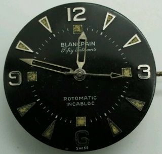 Vintage Rare Blancpain Fifty Fathoms Rotomatic 17 Jewel Auto Movement