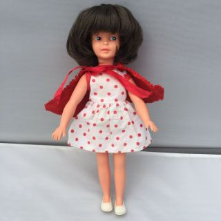Sindy Rare Canterbury Patch Vintage Doll With Red Riding Dress Pedigree Great