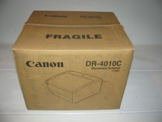Rare,  Virgin Old Stock Boxed Canon Dr - 4010c Document Scanner.  Made In Japan