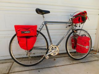 Vintage Specialized Expedition Touring Road Bike With Full Touring Kit,  56 Cm