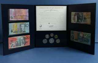 "Australia: 1997 $5 To $100 "" Rare Deluxe Note & Coin Colln "" Npa Folio.  Last Avail"