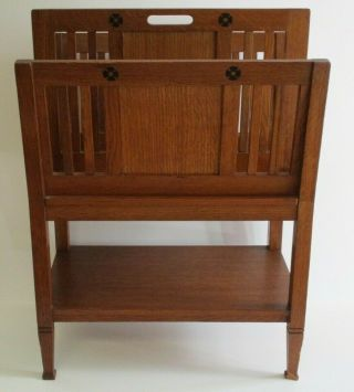 H Pander & Zonen Rack Antique Arts And Crafts Deco Modernism Rare Table Stand