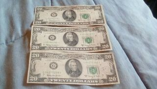 1963 Series A $20 Star Note Old Bill Vintage Money Green Cheese Bread