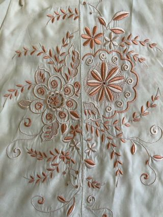 Vintage 1920s 30s Chinese Silk Cheongsam Qipao Top Blouse Floral Embroidery VTG 7