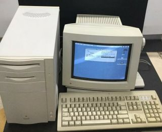 Vintage Macintosh Quadra 800 Desktop,  Color Display,  Mouse And Keyboard