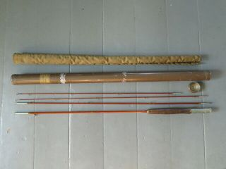 Vintage 4pc.  Goodwin Granger Special 7.  5 Ft Bamboo Fly Rod