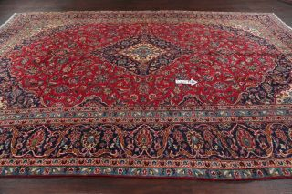 Vintage Traditional Floral Oriental Area Rug Hand - Knotted Wool Red Carpet 9