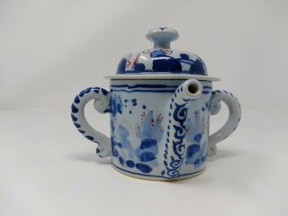 Delftware Posset Pot By Michelle Erickson For Colonial Williamsburg Foundation.