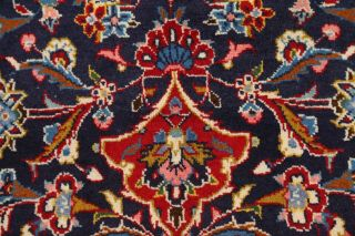 Hand - Knotted Geometric Floral 8 X 11 Wool Traditional Oriental Area Rug Carpet