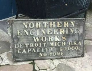 Northern Engineering Antique Crane Cast Iron Sign