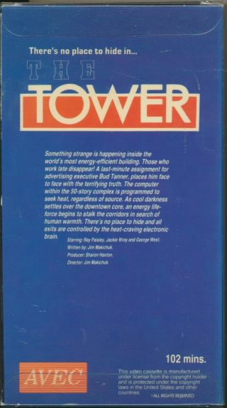 The Tower Much Sought After Canadian Sci Fi Horror Weirdness Avec VHS Rare 2