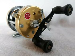 Very Rare Abu Garcia Ambassadeur 5500 Champagne Gold Reel Made In Feb 1977 Only