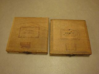 2 Vintage Boxes Kingsley Stamping Machine Hot Foil Stamps Hobo & Kaufmann Scr