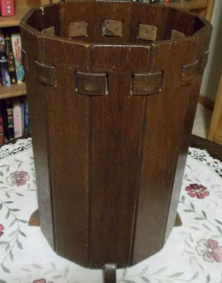 Lakeside Crafters Sheboygan Wi Stickley Era Wastepaper Basket Limbert Quality