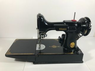 Vintage Singer 221 - 1 Featherweight Portable Sewing Machine 1951 Anniversary,  Key