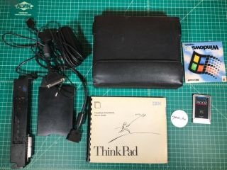 Thinkpad 701c Butterfly Keyboard Vintage Laptop W/ Accessories