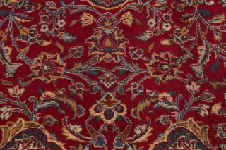 Vintage Traditional Floral Red Living Room Area Rug Hand - Knotted Oriental 10x13