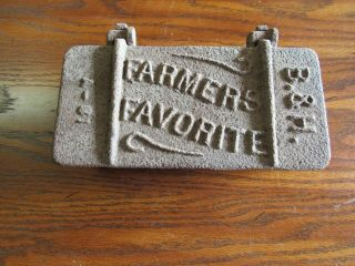 Antique Cast Iron Farmers Favorite Tractor Tool Box