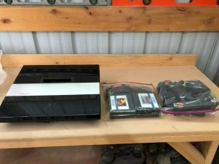 Vintage Atari 5200 Game Console With 4 Game Cartridges