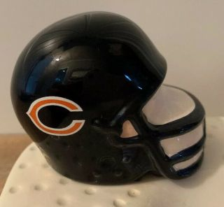 Nora Fleming Retired Rare Chicago Bears Helmet - Gold Nf Initials Hard To Find