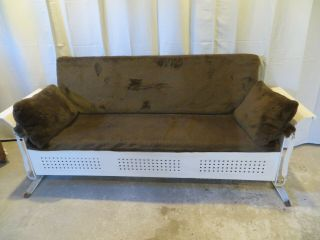 Vintage The Bunting Co Metal Porch 3 Seat Glider With Cushion,  Solid,  Pa Pick - Up