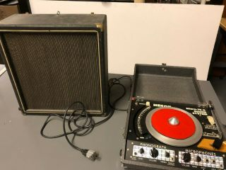 Vintage Hilton Record Player Micro - 75 - A Sound System With Vintage Bogen Speaker