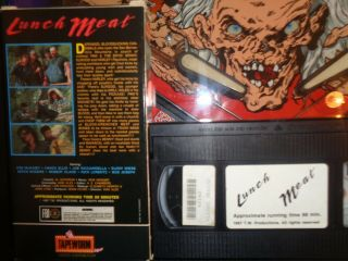LUNCH MEAT VERY RARE VHS 1987 HORROR TAPEWORM TIGHT SLIP COVER 2