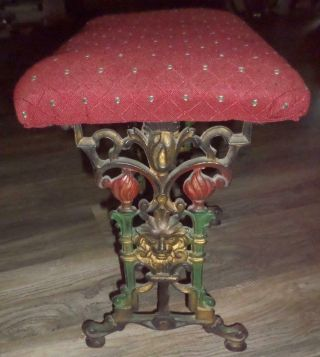 Cast Iron Bench Fireside Bench Footstool Vanity Piano Bench