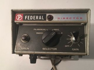 Vintage Federal Sign & Signal Corporation Electronic Siren Model Pa - 15a