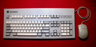 Silicon Graphics Sgi Vintage Keyboard & Mouse