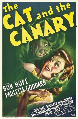 Movie 16mm Cat And The Canary Feature Vintage 1939 Film Horror Sci - Fi