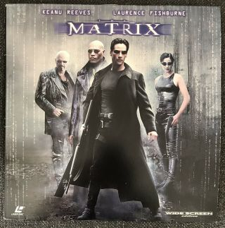 Rare Hard To Find 1999 THE MATRIX WIDE SCREEN Edition Laserdisc LASER DISC Image 2