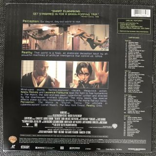 Rare Hard To Find 1999 THE MATRIX WIDE SCREEN Edition Laserdisc LASER DISC Image 3