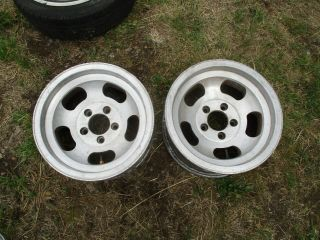 15 X 7 Slotted Mag Wheels Old School 5x4.  75 Slot Vintage Chevy Slot Ansen